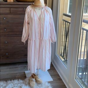 Zara oversized drop waist ruffle dress. Sz M